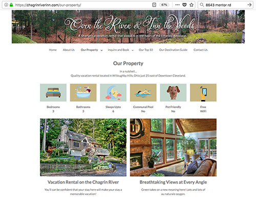 vacation rental website designer